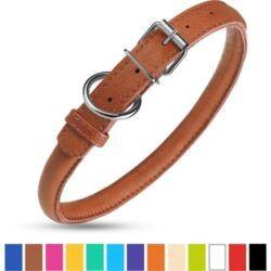 collardirect-rolled-leather-dog-collar