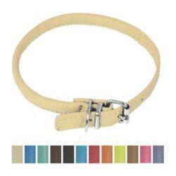 dogline-round-soft-leather-dog-collar