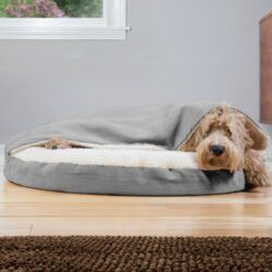 furhaven-faux-sheepskin-snuggery-orthopedic--dog-bed-with-removable-cover