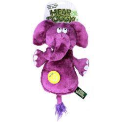 hear-doggy-silent-squeaker-chew-guard-flattie-elephant-plush-dog-toy