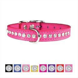 omnipet-signature-leather-crystal-dog-collar