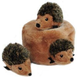 zippypaws-burrow-squeaky-hide-and-seek-plush-dog-toy-hedgehog-den-puzzle-set