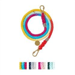 found-my-animal-adjustable-ombre-rope-dog-leash
