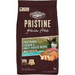 castor-pollux-pristine-grain-free-free-range-chicken-sweet-potato-recipe-with-raw-bites-dry-dog-food