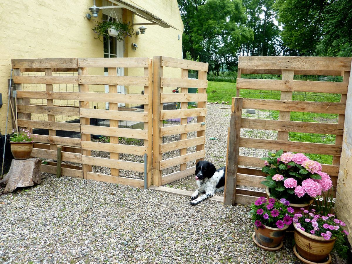 4. Pallet Fence